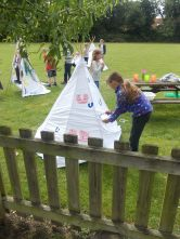 We made teepees